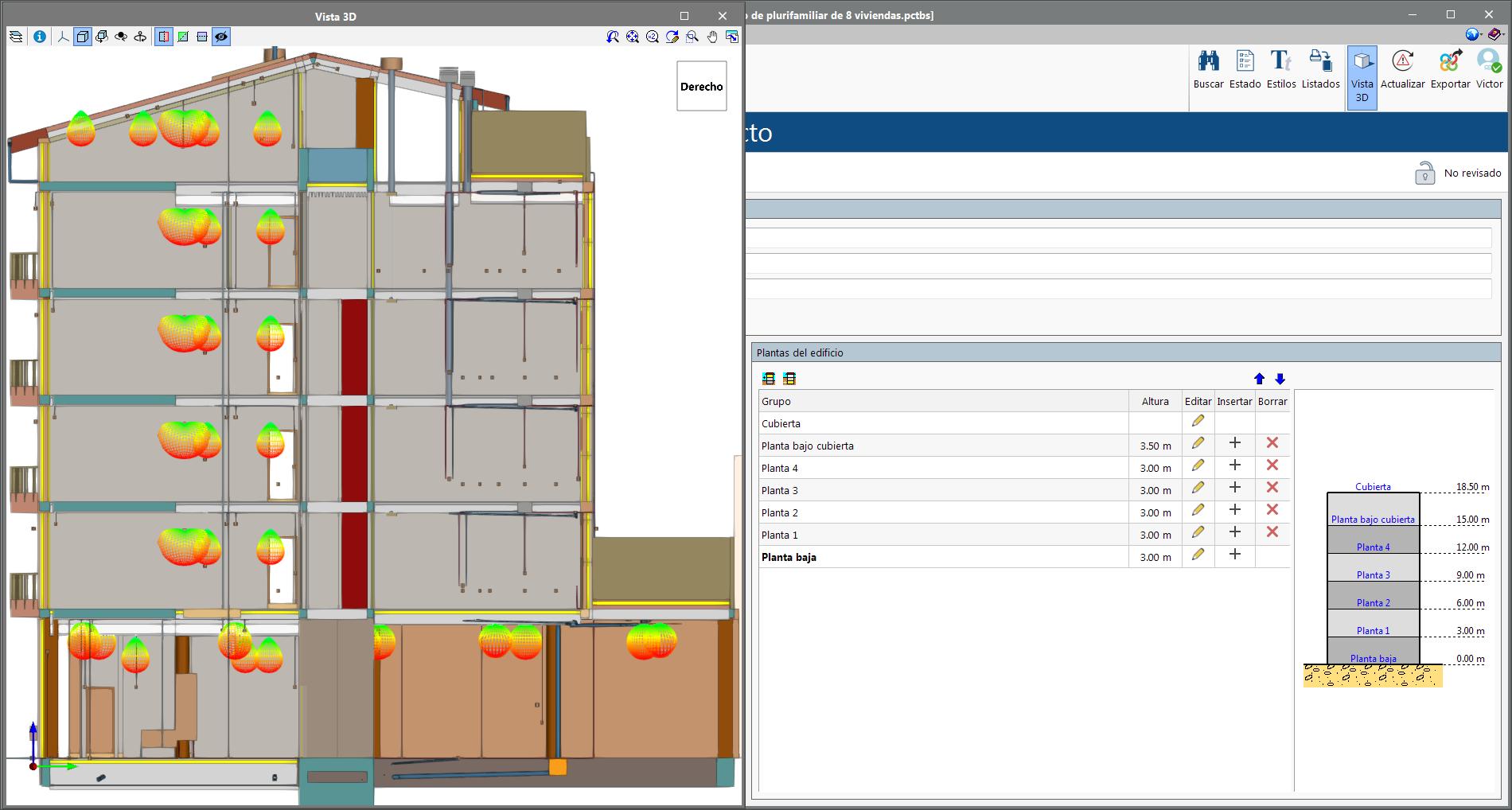 Open BIM Memorias CTE. Lectura de las plantas del edificio definidas en el proyecto BIM