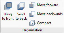 "Open BIM Layout. ""Organisation"". New section in the toolbar"
