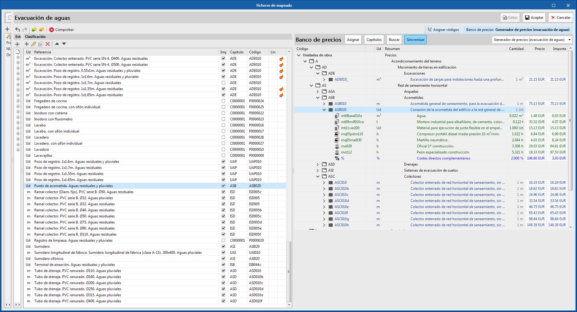 Open BIM Quantities y aplicaciones con solapa Presupuesto